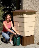 Dekoracyjny prostokatny pojemnik zbiornik na deszczówkę wodę deszczową o pojemności 300 litórw