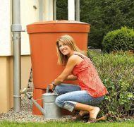 Zbiornik dekoracyjny na wodę deszową deszczówkę Toskana ceglasty 300 litrów
