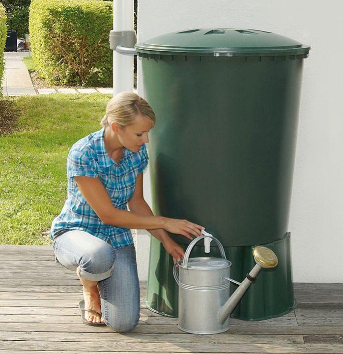 pojemnik zbiornik ozdobny na wodę deszczową deszczówkę pojemność 210 litrów
