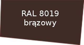 Kolor RAL 8019 brązowy rynny Izabella