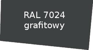 Kolor RAL 7024 grafitowy rynny Izabella