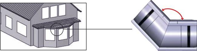 Marley rynny pcv 125 narożnik zewnętrzny altana balkon przybudówka o nietypowym niestandardowym dowolnym kacie