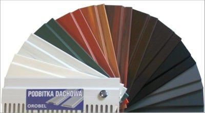 Podbitka dachowa Orobel rodzaje kolorów