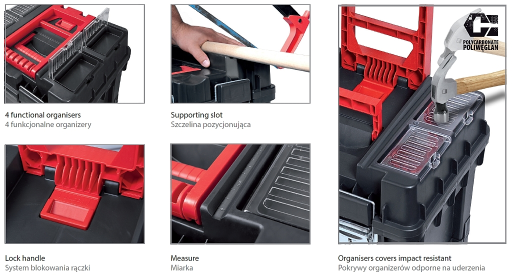 Skrzynka narzędziowa na kółkach Wheelbox HD Compact