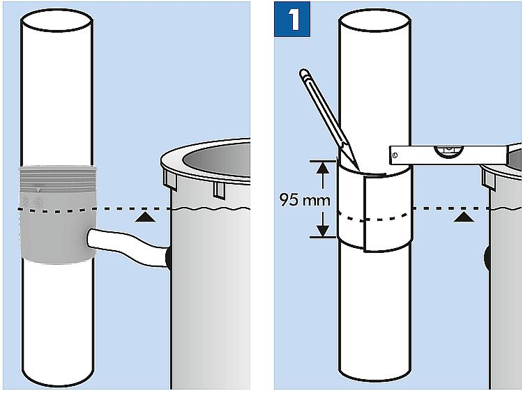 Na jakiej wysokości montuje się zbieracz łapacz uniwersalny zbieracz łapacz wody deszczówki z filtrem koszem