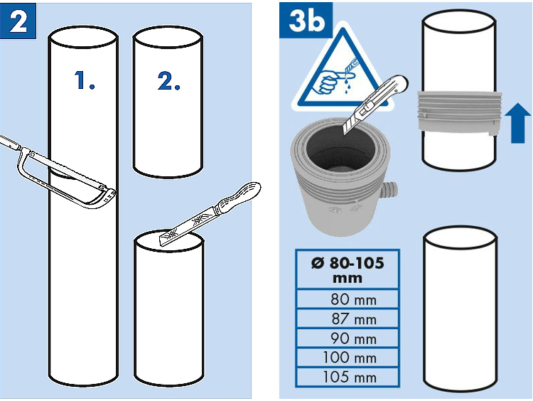 Jak należy przeciąć rurę spustową rynnę przed zamontowaniem zbieracza łapacza