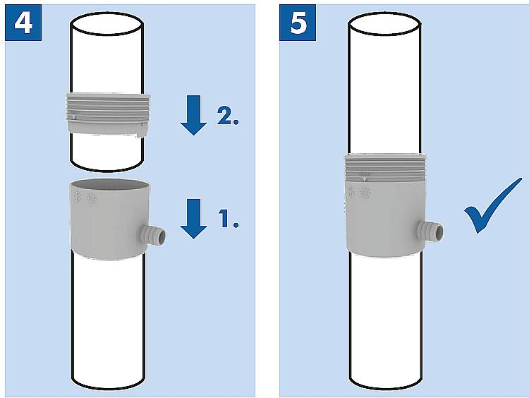 Jak założyc zbieracz łapacz wody deszczowej na rurę spustwoą rynnę