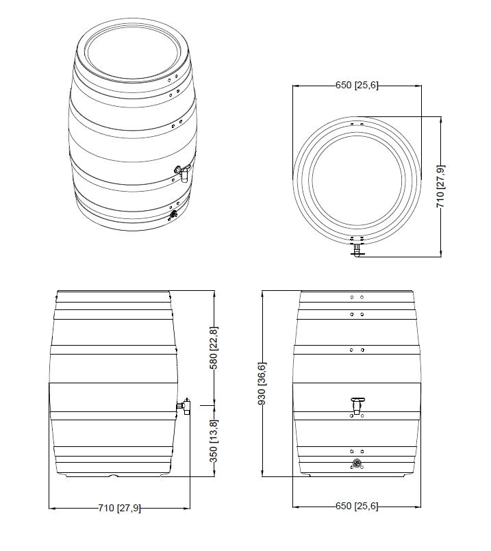 Zbiornik zbiorniki na deszczówkę beczka pojemnik na wodę